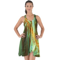 Abstract Illusion Show Some Back Chiffon Dress