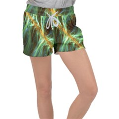 Abstract Illusion Velour Lounge Shorts by Sparkle