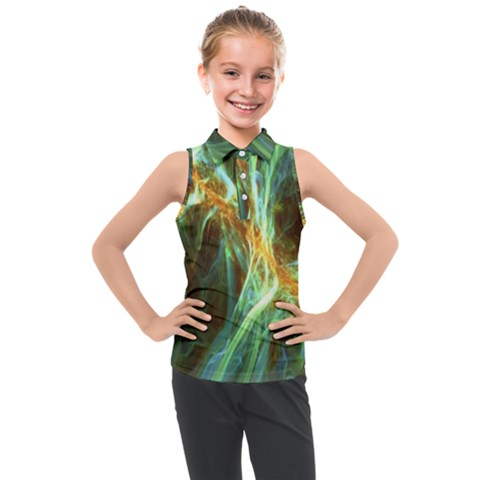 Abstract Illusion Kids  Sleeveless Polo Tee by Sparkle