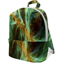 Abstract Illusion Zip Up Backpack