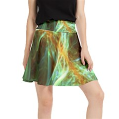 Abstract Illusion Waistband Skirt