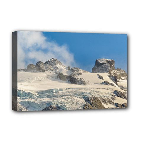 Snowy Andes Mountains, Patagonia - Argentina Deluxe Canvas 18  X 12  (stretched) by dflcprintsclothing