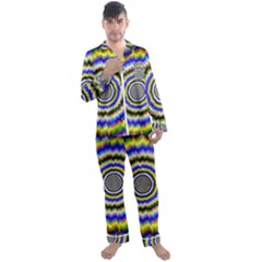Psychedelic Blackhole Men s Long Sleeve Satin Pyjamas Set
