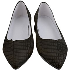 Black Crocodile Skin Women s Block Heels  by LoolyElzayat
