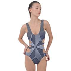 Star Grey Side Cut Out Swimsuit