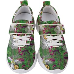 Illustrations Color Cat Flower Abstract Textures Kids  Velcro Strap Shoes by Alisyart