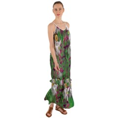 Illustrations Color Cat Flower Abstract Textures Cami Maxi Ruffle Chiffon Dress by Alisyart