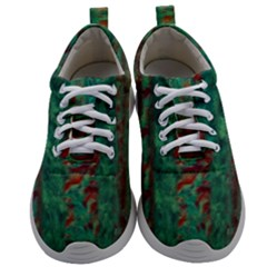 Color Fine Texture Green Mens Athletic Shoes by AnjaniArt