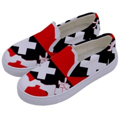 Flag Map Of Amsterdam Kids  Canvas Slip Ons by abbeyz71