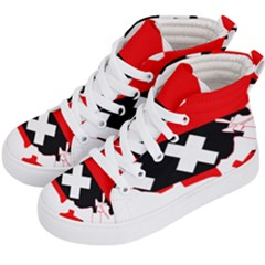Flag Map Of Amsterdam Kids  Hi-top Skate Sneakers by abbeyz71