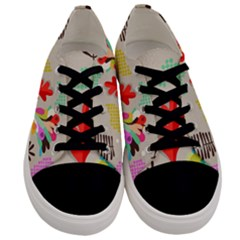 Scandinavian Foliage Fun Men s Low Top Canvas Sneakers