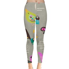 Scandinavian Birds Feather Weather Leggings  by andStretch
