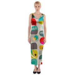Scandinavian Balancing Act Fitted Maxi Dress by andStretch