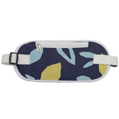 Laser Lemon Navy Rounded Waist Pouch
