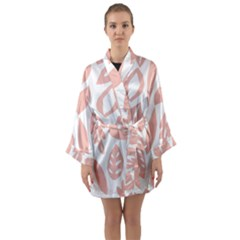 Blush Orchard Long Sleeve Satin Kimono by andStretch