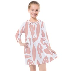 Blush Orchard Kids  Quarter Sleeve Shirt Dress by andStretch