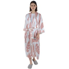 Blush Orchard Maxi Satin Kimono by andStretch