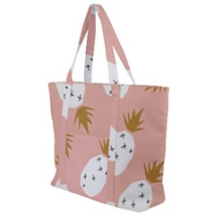 Pineapple Fields Zip Up Canvas Bag