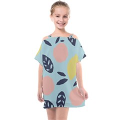 Orchard Fruits Kids  One Piece Chiffon Dress by andStretch