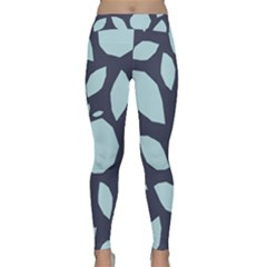 Orchard Fruits In Blue Classic Yoga Leggings by andStretch