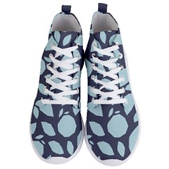 Orchard Fruits In Blue Men s Lightweight High Top Sneakers