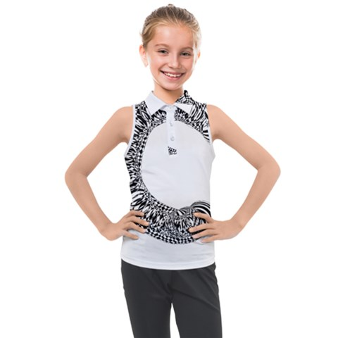 Letter C  Kids  Sleeveless Polo Tee by Sabelacarlos