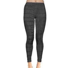 Black Alligator Skin Leggings  by LoolyElzayat