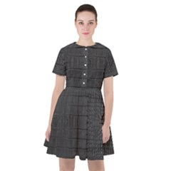 Black Alligator Skin Sailor Dress by LoolyElzayat