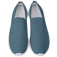 Turquoise Alligator Skin Men s Slip On Sneakers by LoolyElzayat