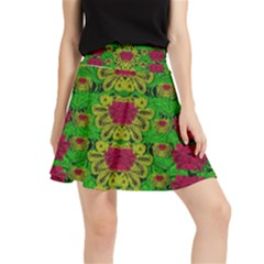 Rainbow Forest The Home Of The Metal Peacocks Waistband Skirt