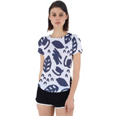 Orchard Leaves Back Cut Out Sport Tee by andStretch