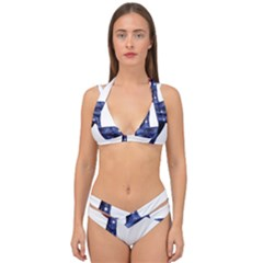 Hush Silence Quiet Secret Silent Double Strap Halter Bikini Set