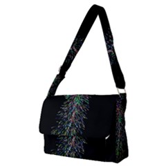 Galaxy Space Full Print Messenger Bag (m) by Sabelacarlos