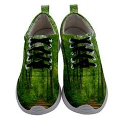 In The Forest The Fullness Of Spring, Green, Athletic Shoes by MartinsMysteriousPhotographerShop
