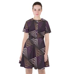 Zigzag Motif Design Sailor Dress by tmsartbazaar