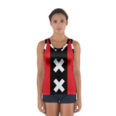 Vertical Amsterdam Flag Sport Tank Top  by abbeyz71