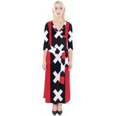 Vertical Amsterdam Flag Quarter Sleeve Wrap Maxi Dress by abbeyz71