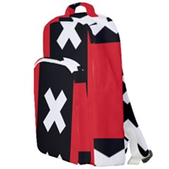 Vertical Amsterdam Flag Double Compartment Backpack by abbeyz71