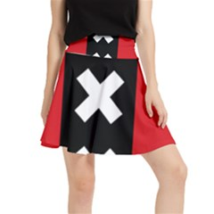 Vertical Amsterdam Flag Waistband Skirt