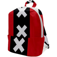Vertical Amsterdam Flag Zip Up Backpack by abbeyz71