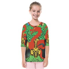 Ragnarok Dragon Monster Kids  Quarter Sleeve Raglan Tee