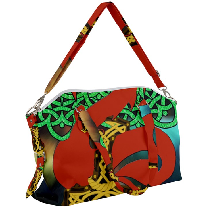 Ragnarok Dragon Monster Canvas Crossbody Bag