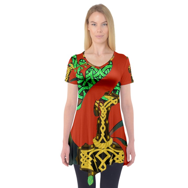 Ragnarok Dragon Monster Short Sleeve Tunic