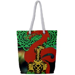 Ragnarok Dragon Monster Full Print Rope Handle Tote (small) by HermanTelo