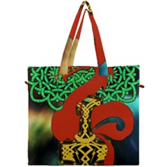 Ragnarok Dragon Monster Canvas Travel Bag by HermanTelo