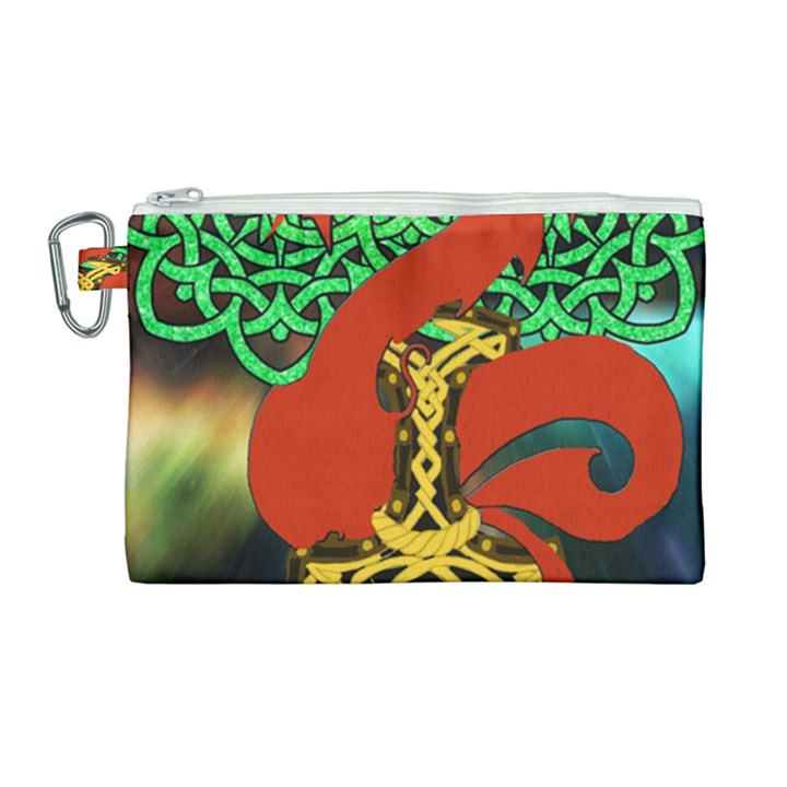Ragnarok Dragon Monster Canvas Cosmetic Bag (Large)