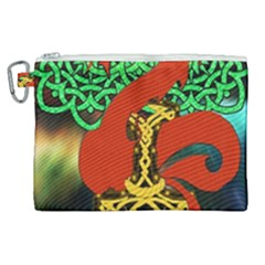 Ragnarok Dragon Monster Canvas Cosmetic Bag (xl) by HermanTelo
