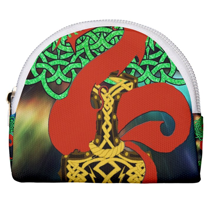 Ragnarok Dragon Monster Horseshoe Style Canvas Pouch