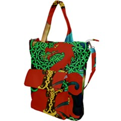 Ragnarok Dragon Monster Shoulder Tote Bag by HermanTelo