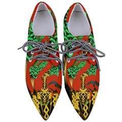 Ragnarok Dragon Monster Pointed Oxford Shoes